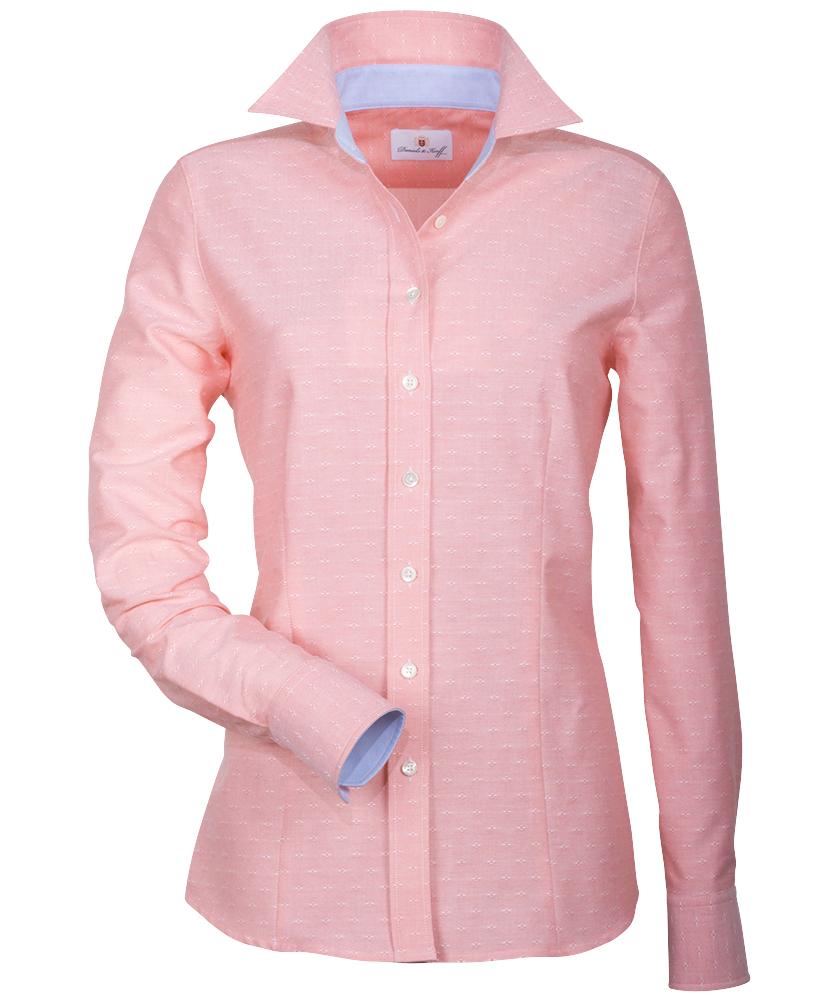 oxford bluse mit besatz ros uni im daniels korff shop. Black Bedroom Furniture Sets. Home Design Ideas