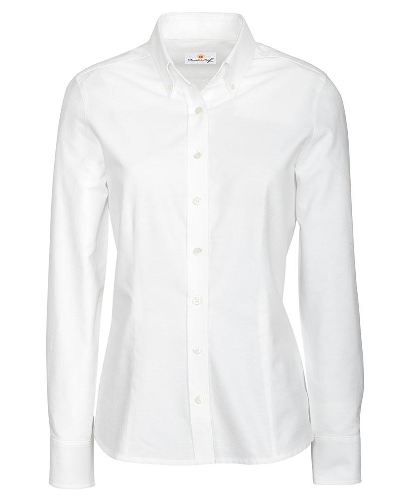 6f2baddd18770 Oxford-Bluse weiß uni im Daniels & Korff Shop