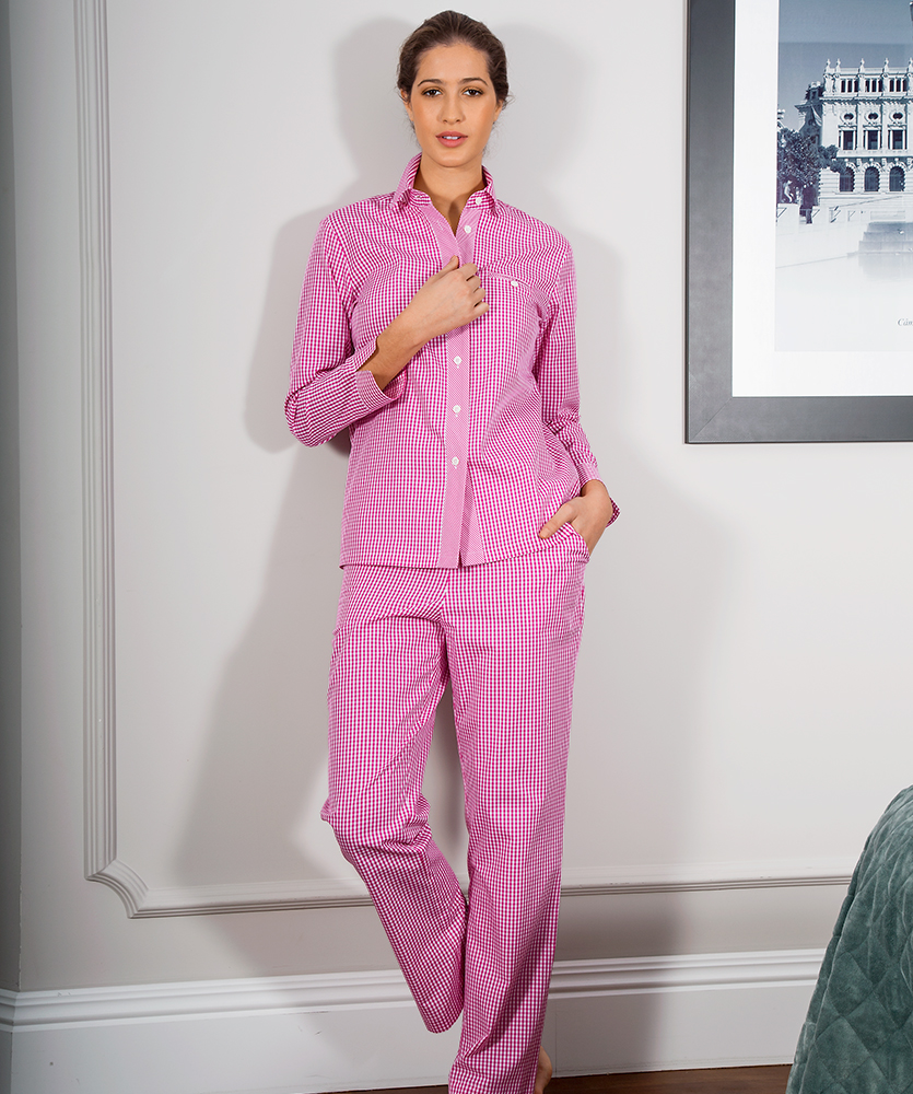 detailed pictures 90911 f8e3b Damen-Pyjama mit Besatz