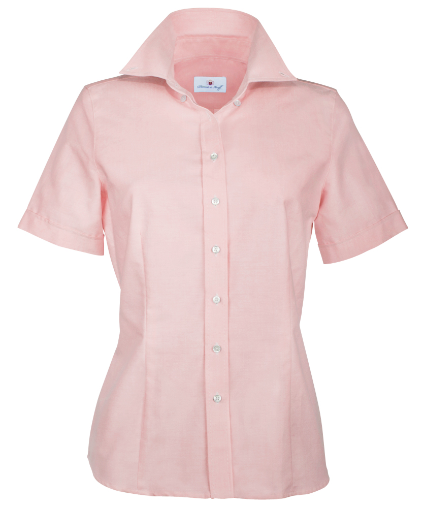 b3d7386ee3685 Oxford-Bluse rosé uni im Daniels & Korff Shop