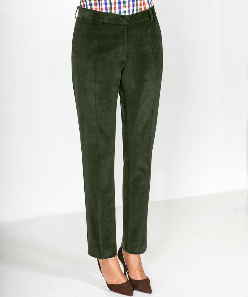 4fb0bac894ae Damen Cord-Hose grün uni im Daniels   Korff Shop