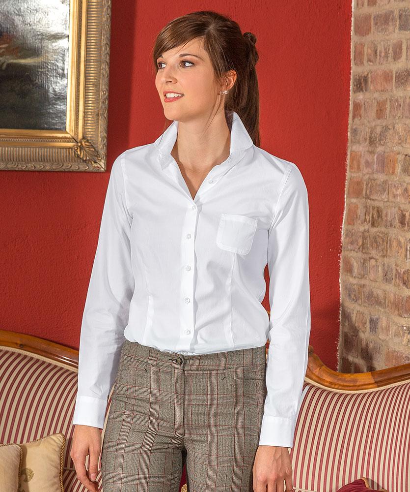 vollzwirn bluse mit bubi kragen wei uni im daniels korff shop. Black Bedroom Furniture Sets. Home Design Ideas