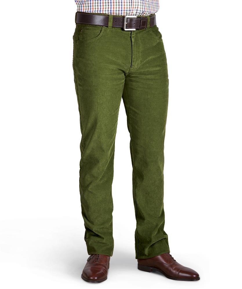 35842c42be9b 5-Pocket-Cordhose grün uni im Daniels   Korff Shop