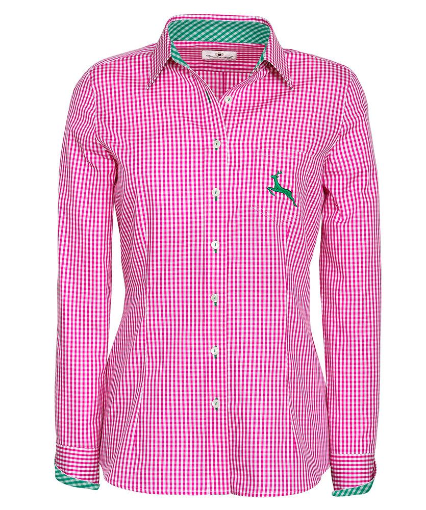 bluse mit besatz und hirsch pink im daniels korff shop. Black Bedroom Furniture Sets. Home Design Ideas