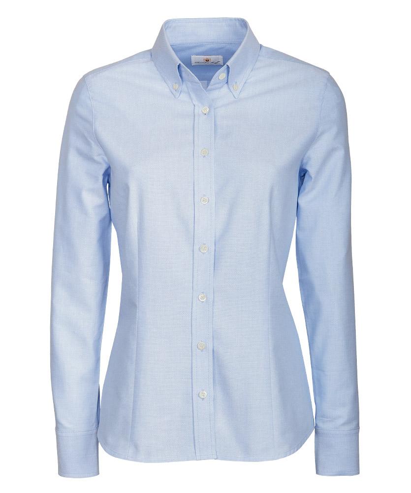 e2adb6b2c2117 Oxford-Bluse, blau uni im Daniels & Korff Shop