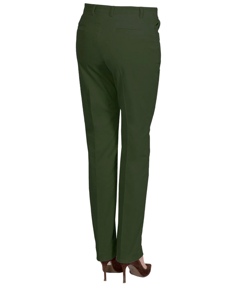 dfa49ff718c5 Damen 5-Pocket Cord-Hose grün uni im Daniels   Korff Shop