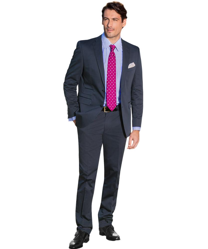 Baumwoll-Anzug Blau Uni Im Daniels & Korff Shop