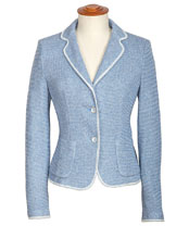 Blazer im Strick-Design