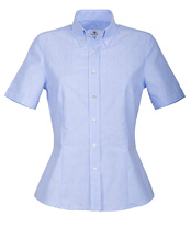 Halb-Arm-Oxford-Bluse
