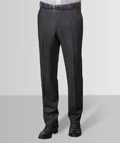 Business-Hose anthrazit mit Flatfront