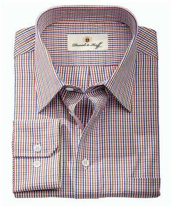Vollzwirn hemd 100 2 slimline mehrfarbig kariert im - Vollzwirn hemd ...