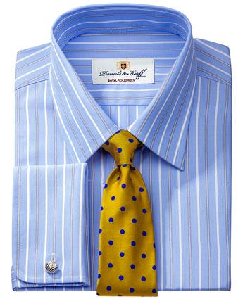 Royal vollzwirn hemd 140 2 blau gestreift im daniels - Vollzwirn hemd ...