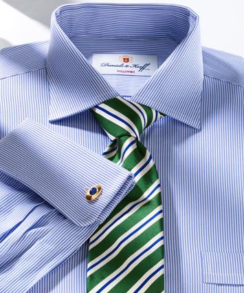 Vollzwirn hemd 100 2 blau gestreift im daniels korff shop - Vollzwirn hemd ...