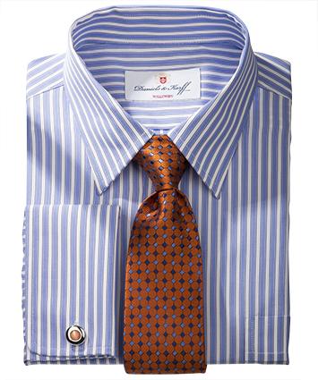 Vollzwirn hemd slimline blau gestreift im daniels korff shop - Vollzwirn hemd ...